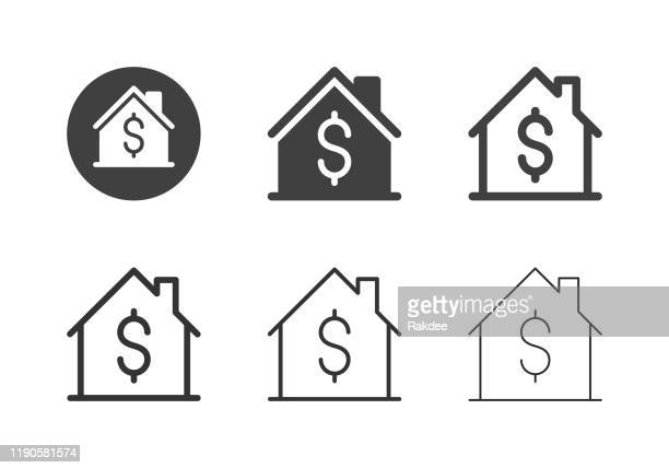 house price icons - multi series - house stock illustrations