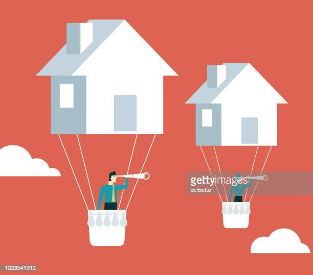 house price - mortgage loan stock illustrations