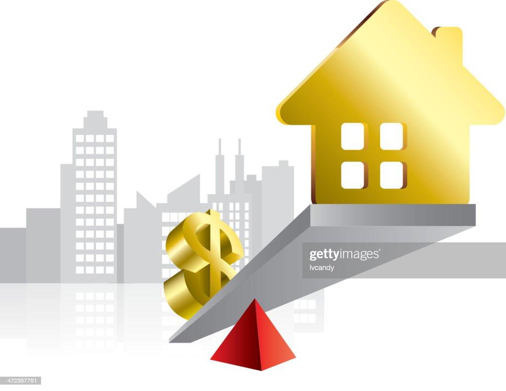 House price : stock illustration