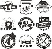 House remodeling icons.
