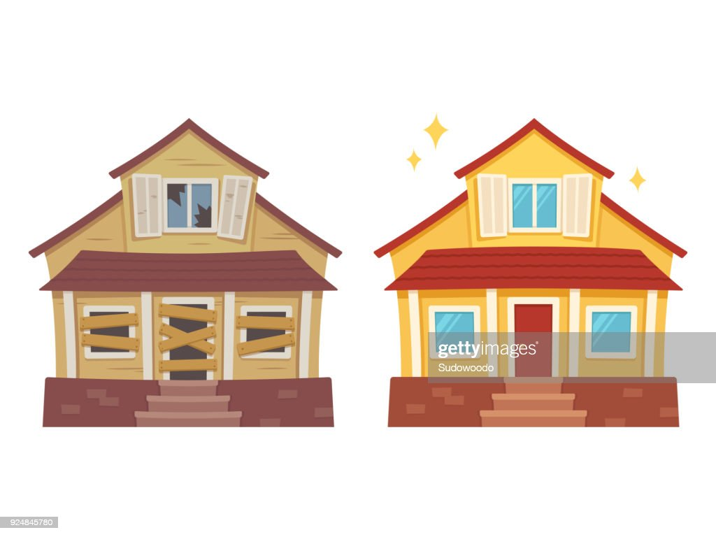 House renovation before and after