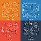 House repair illustrations