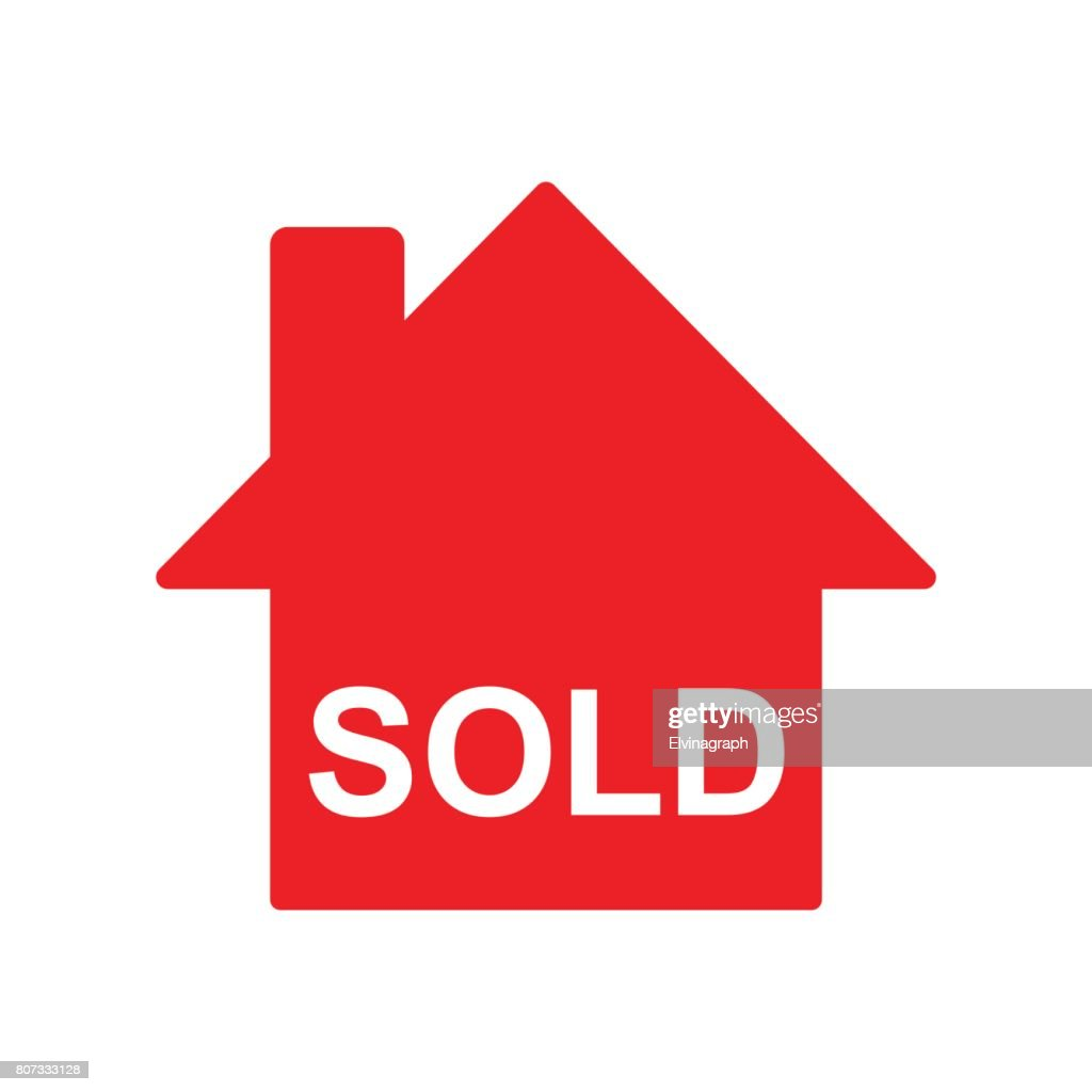 house sold sign isolated vector