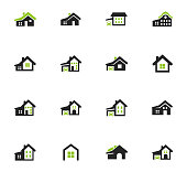house type icon set