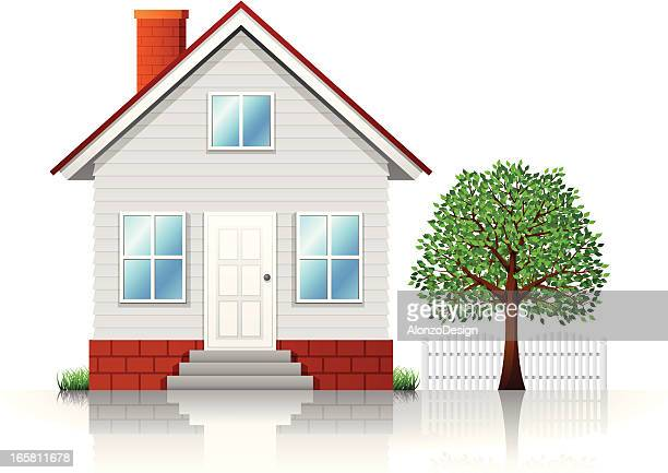 house - architectural feature stock illustrations, clip art, cartoons, & icons