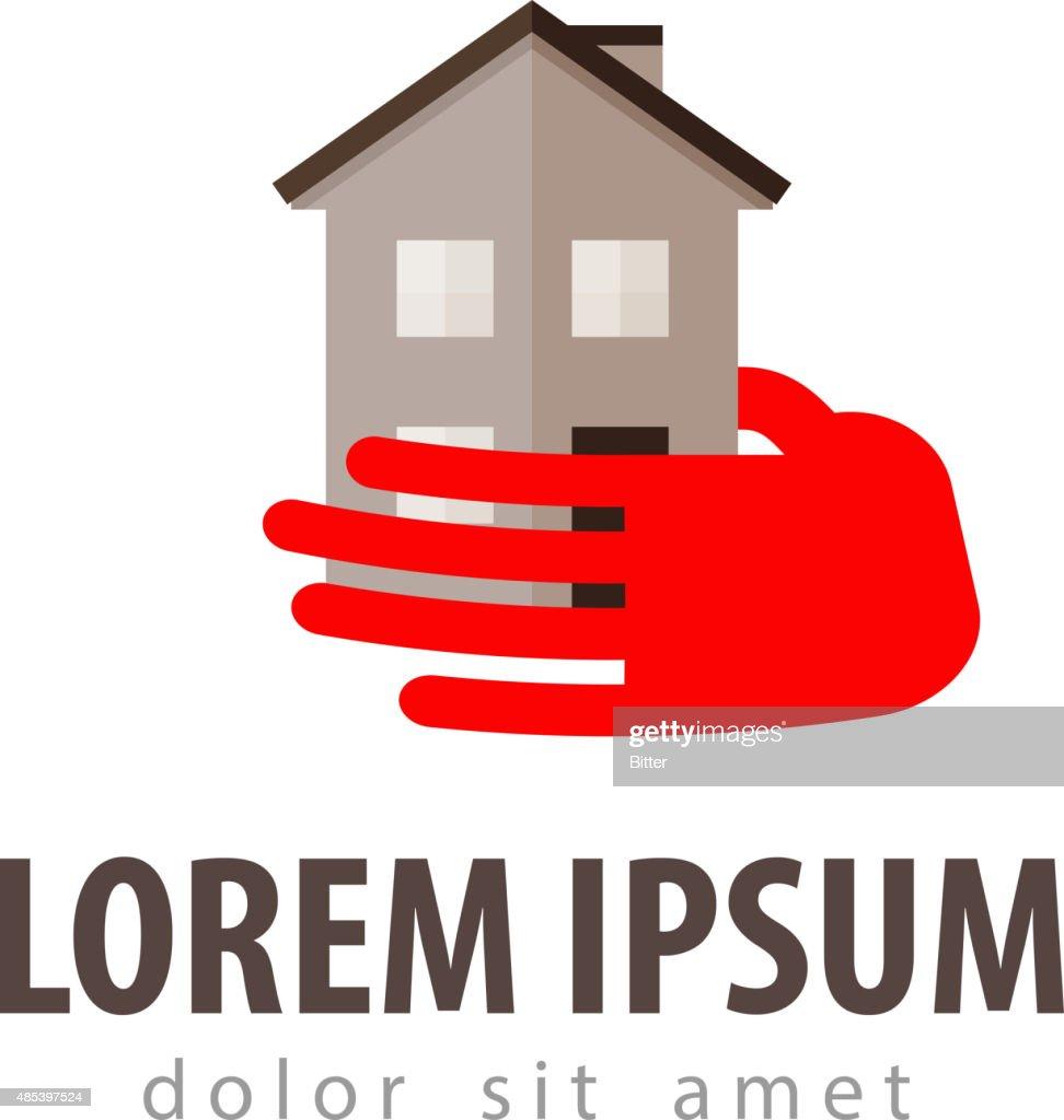 house vector logo design template. construction, building or hotel icon