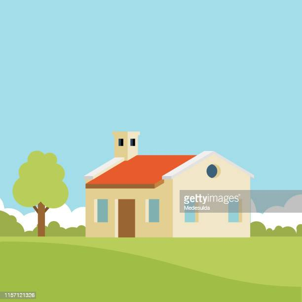 House with a garden tree