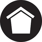 house wooden bird icon