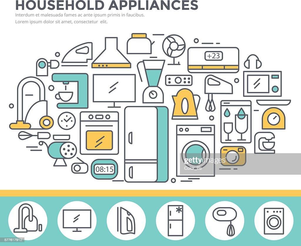 Household appliance shop concept illustration.