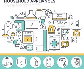 Household appliance shop concept illustration.