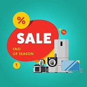 Household appliances discount sale banner