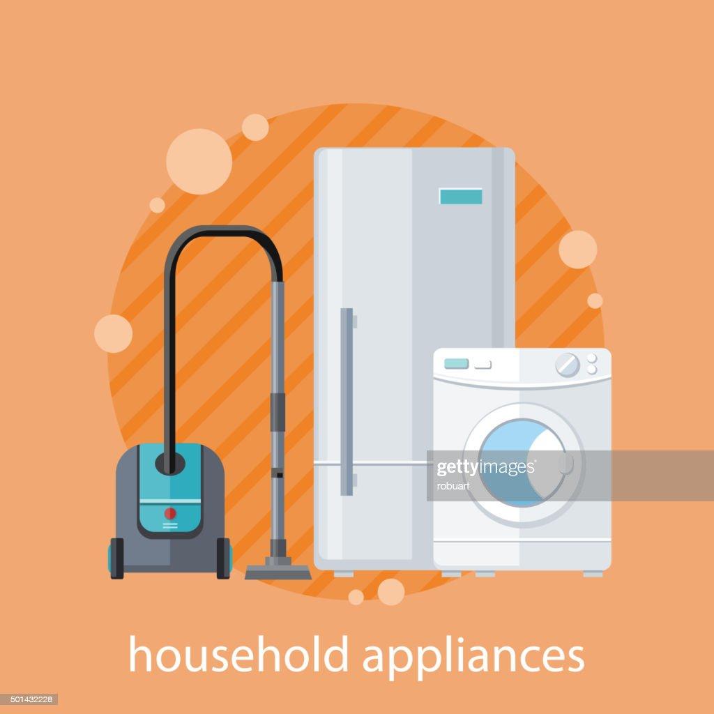 Household Appliances Flat Design