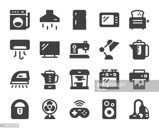 household appliances - icons - exhaust fan stock illustrations, clip art, cartoons, & icons