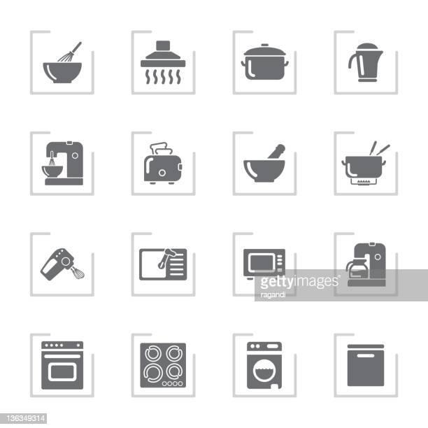 Household Icons | Framed Grey