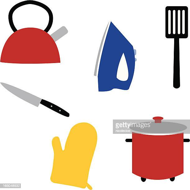 household items - kitchenware department stock illustrations, clip art, cartoons, & icons