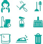 Housekeeping and Cleaning Icons