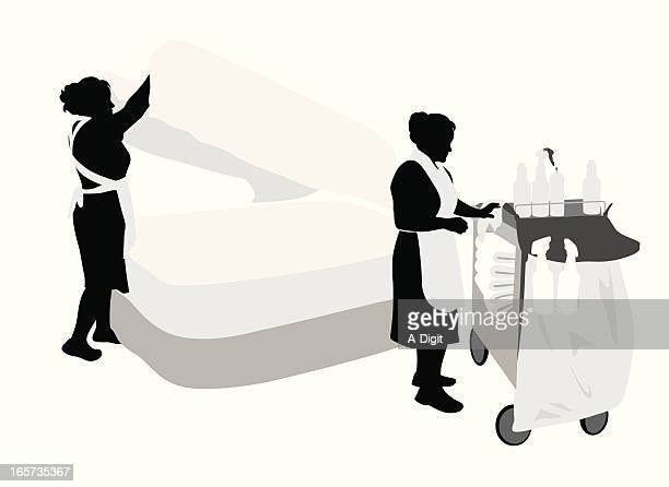 housekeeping vector silhouette - housework stock illustrations, clip art, cartoons, & icons