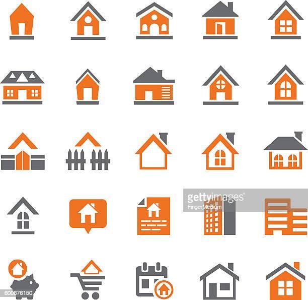 Häuser icon-set