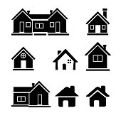 Houses icons set - Illustration