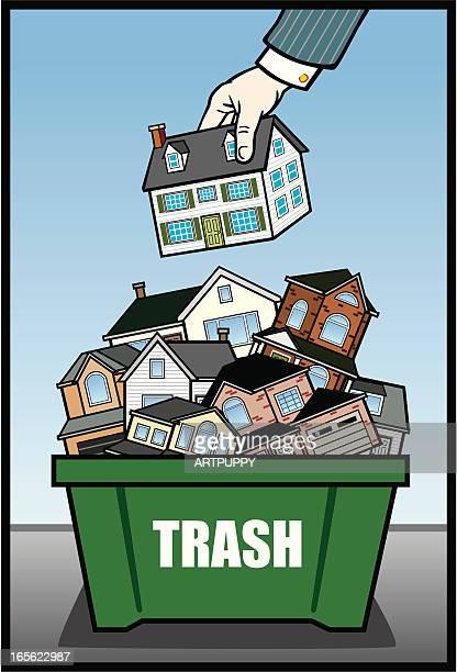 Houses in Trash