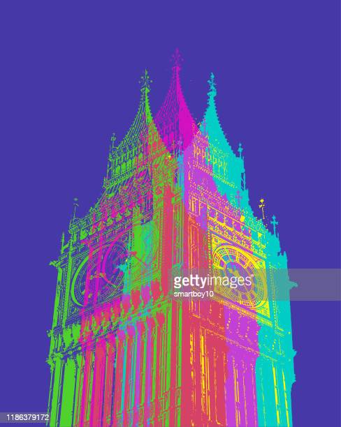 houses of parliament and big ben - referendum stock illustrations