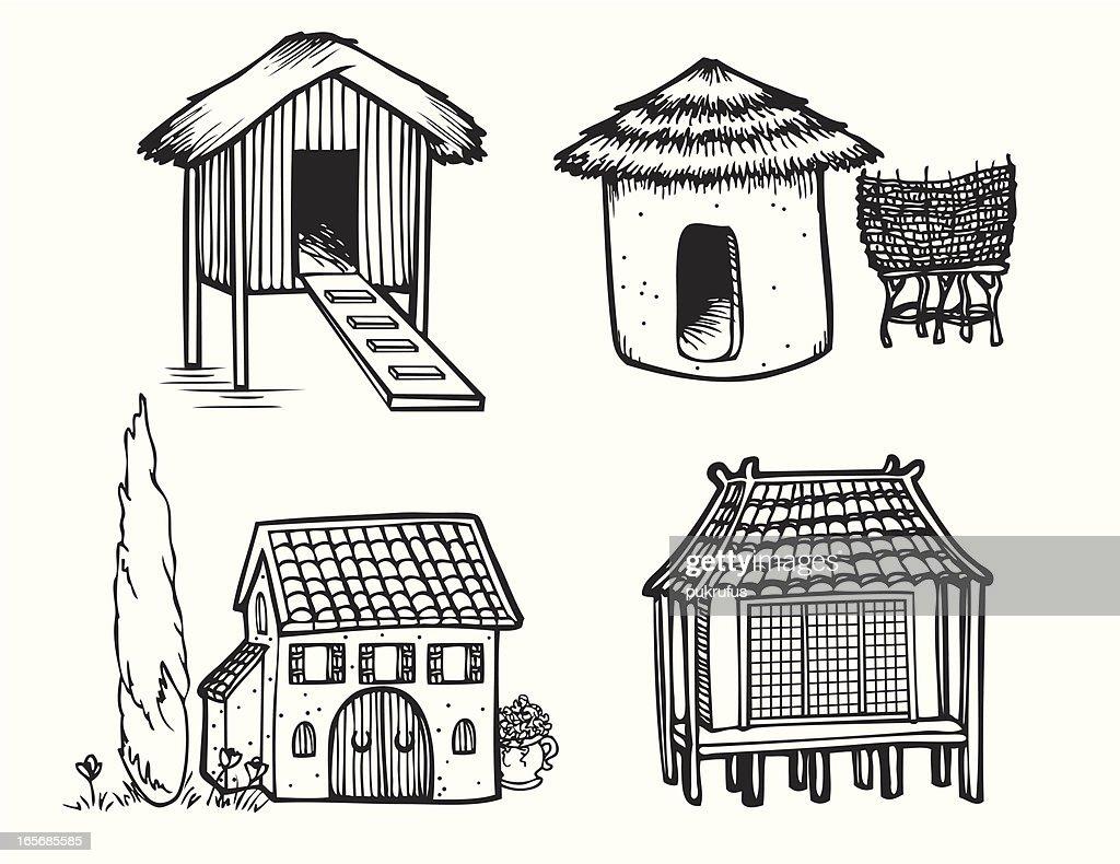 Houses of the World - Lin Art