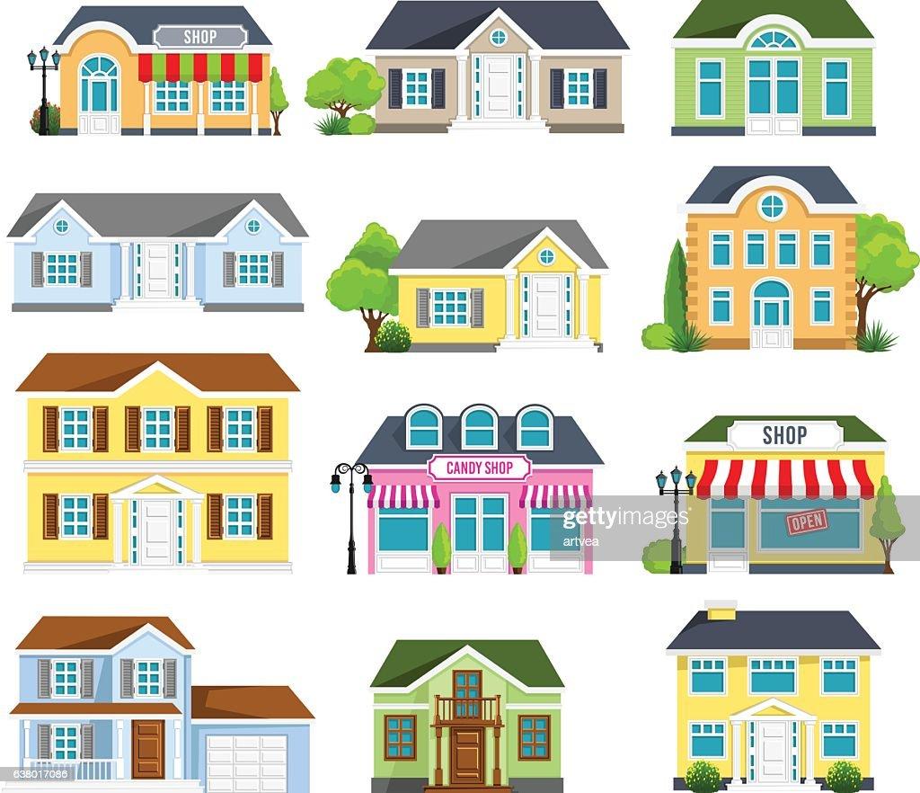 Houses Set : stock illustration