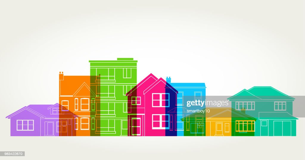 Houses : stock illustration
