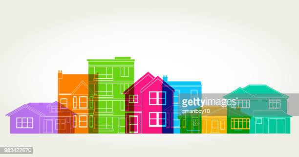 houses - house exterior stock illustrations, clip art, cartoons, & icons