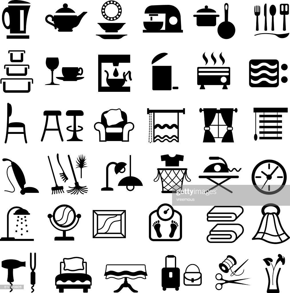Housewares Icons : stock illustration