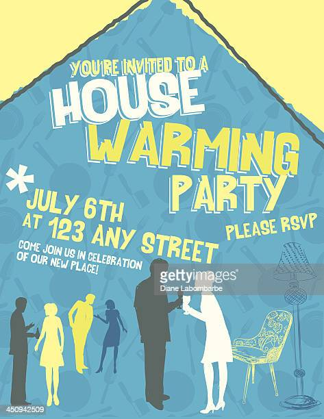 Housewarming vector art and graphics getty images housewarming invitation template stopboris Gallery