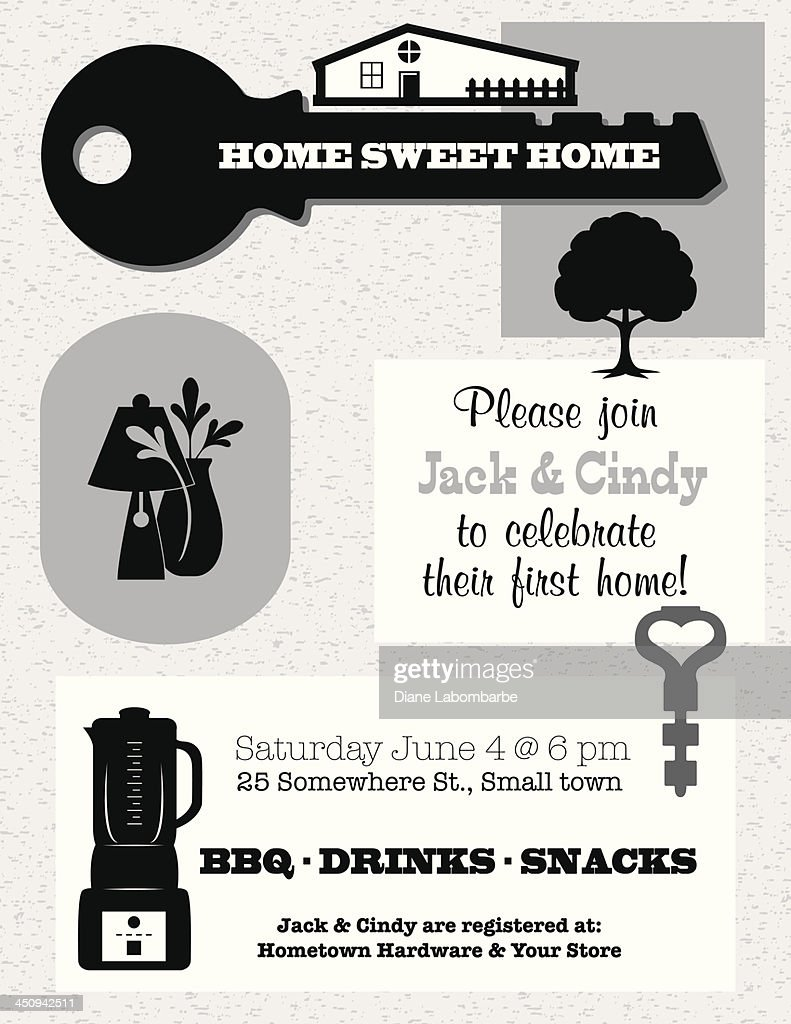 Housewarming invitation template vector art getty images housewarming invitation template vector art stopboris Gallery