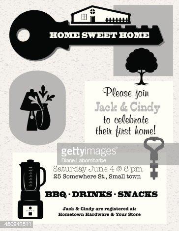Housewarming invitation template vector art getty images similar images stopboris Choice Image
