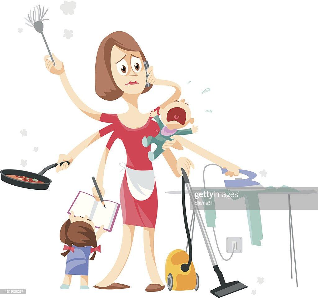 Housewife : Vector Art