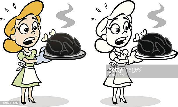 Housewife With Burnt Turkey