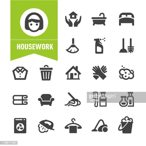 housework icons - special series - plunger stock illustrations, clip art, cartoons, & icons