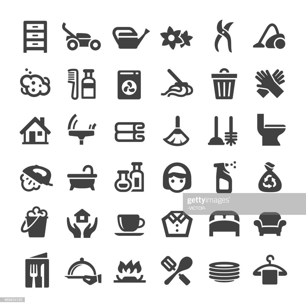 Housework Service Icons - Big Series : stock illustration