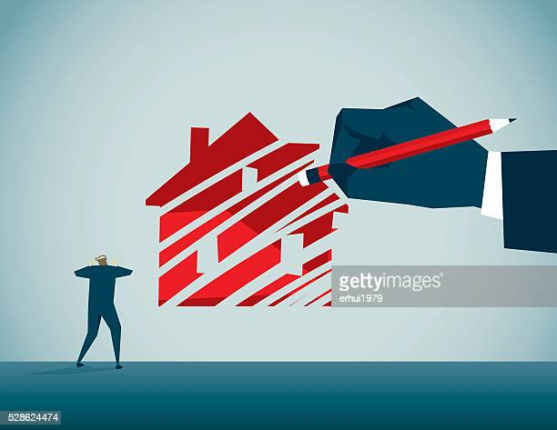 housing crisis - rubber stock illustrations, clip art, cartoons, & icons