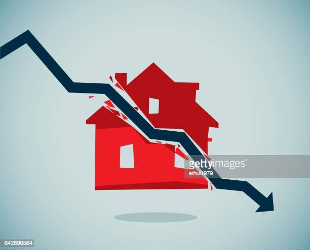 housing crisis - broken stock illustrations, clip art, cartoons, & icons