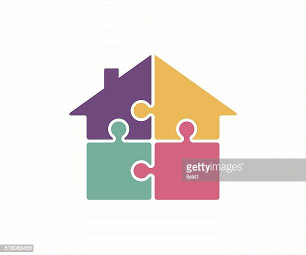 housing solution - house stock illustrations, clip art, cartoons, & icons