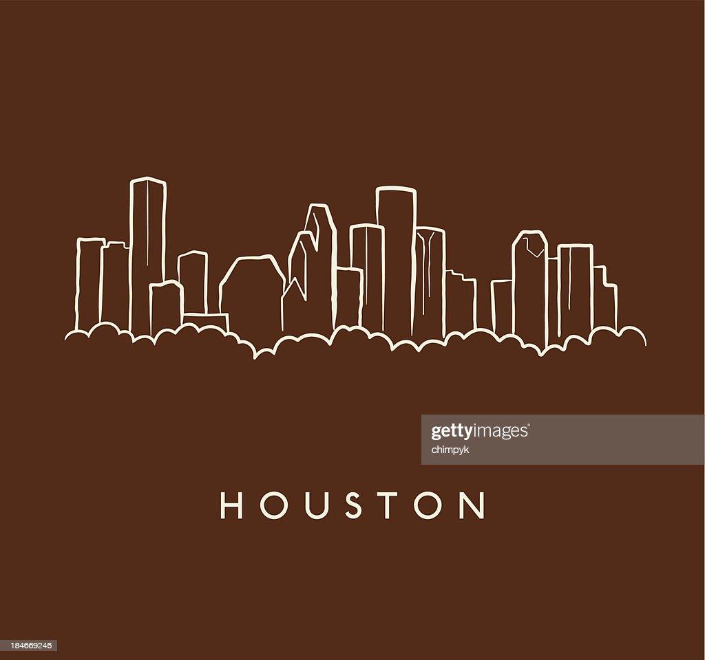 Houston Skyline Sketch