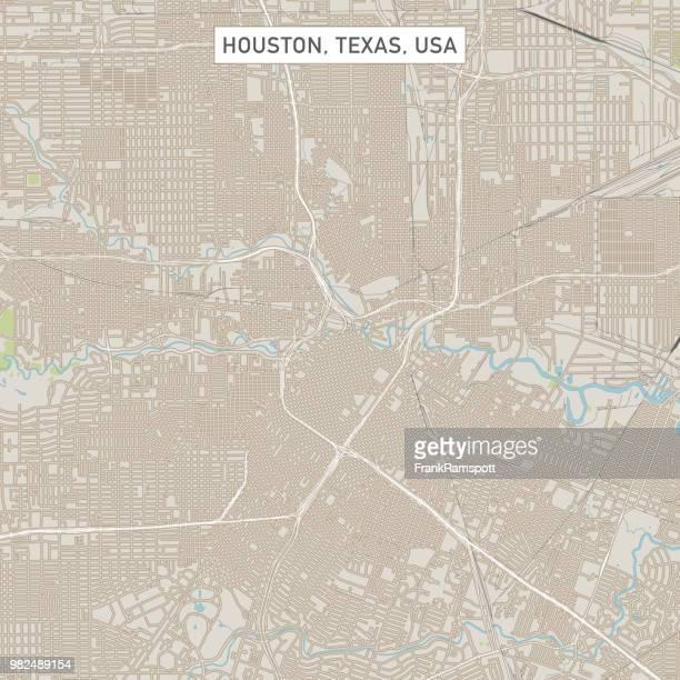 ilustraciones, imágenes clip art, dibujos animados e iconos de stock de mapa de calle de la ciudad de houston texas estados unidos - houston texas