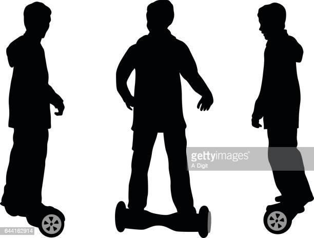hover board - hoverboard stock illustrations
