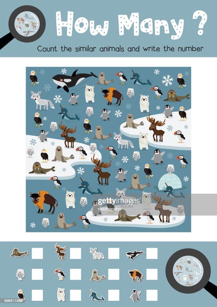 How many arctic animal