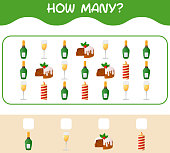 how many cartoon christmas counting game