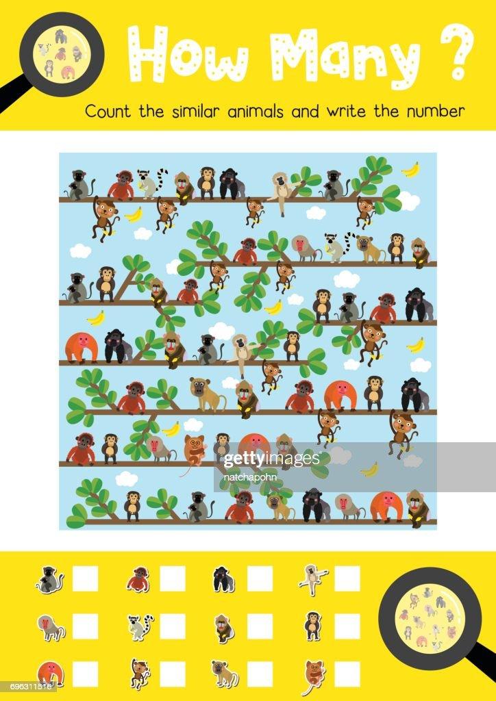 How many cute monkey