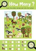 How many farm animal