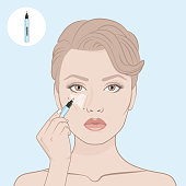 How to apply a concealer.