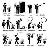 How to Handle Kid Child Tantrum Outburst Pictogram