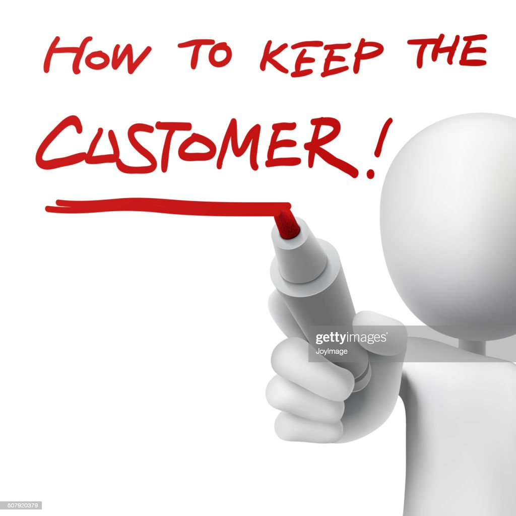 how to keep the customer written by a man